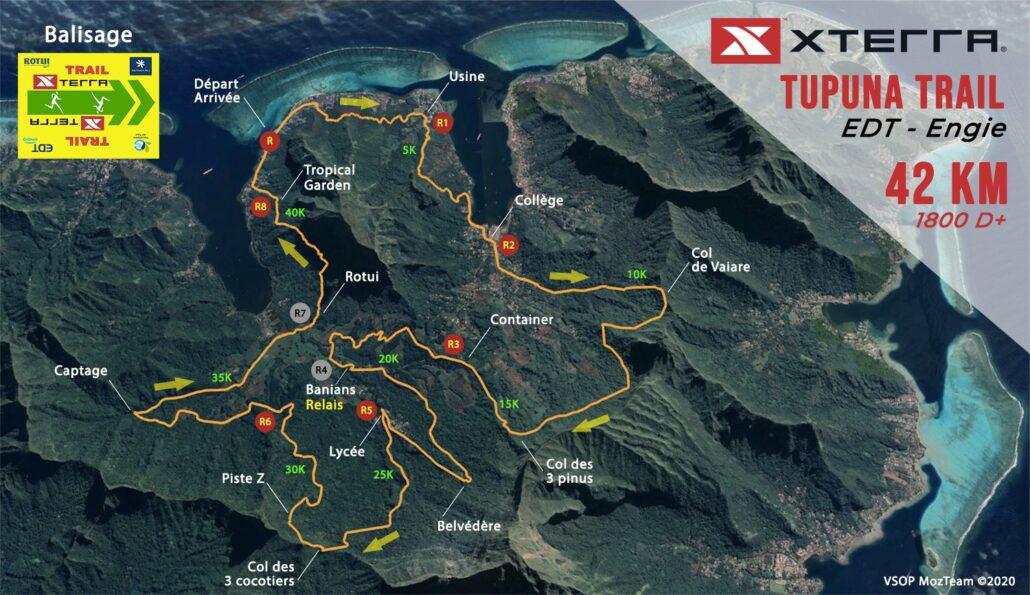 Parcours TUPUNA Trail AITO Trail